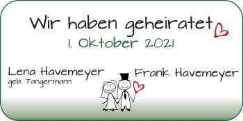 Hochzeitsanzeige von Lena Tangermann von Osterholzer Kreisblatt