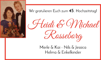 Hochzeitsanzeige von Heidi Rosseborg von Regionale Rundschau/Syker Kurier